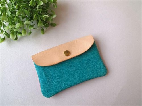 Pig leather soft card case [hand-dyed leather pass case] 1680012
