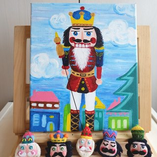 [The Nutcracker] sleeping original handmade brooch / fridge magnet