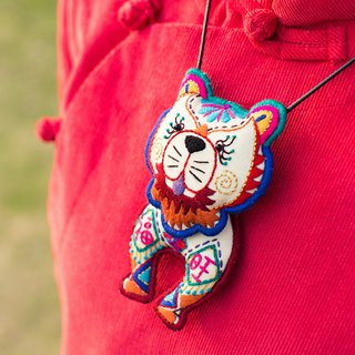 Wangfu Songshi | handmade embroidery original high-end dog necklace Guizhou Miao embroidery long sweater chain