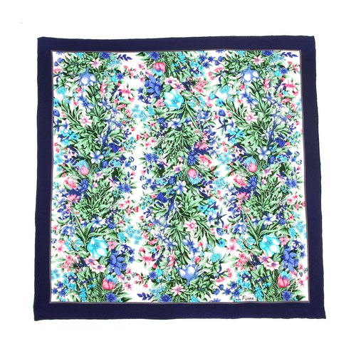 Ancient】 【egg plant Aquatic flowers printed silk scarves