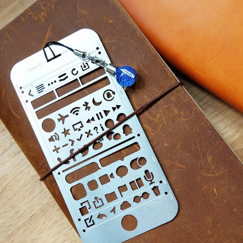 3 hand account pattern ruler drawing board / bookmarks / ornaments custom lettering detachable bulb type rice carving stationery