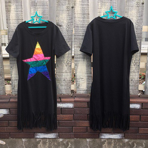 [Select processing] Rainbow Star Fringe Dress