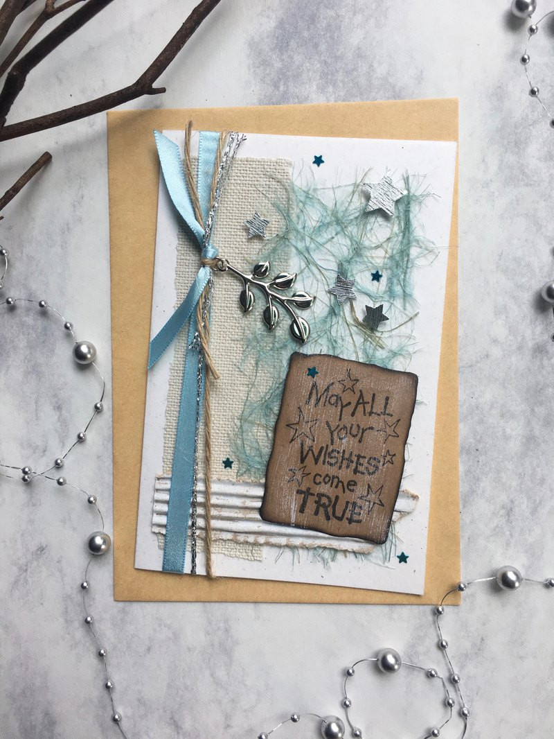 Wish card, wish card, handmade card, custom card