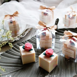 【Lei An Bai】 Only You│ natural handmade soap │ wedding small things │ cake soap │ Korean crowded flowers