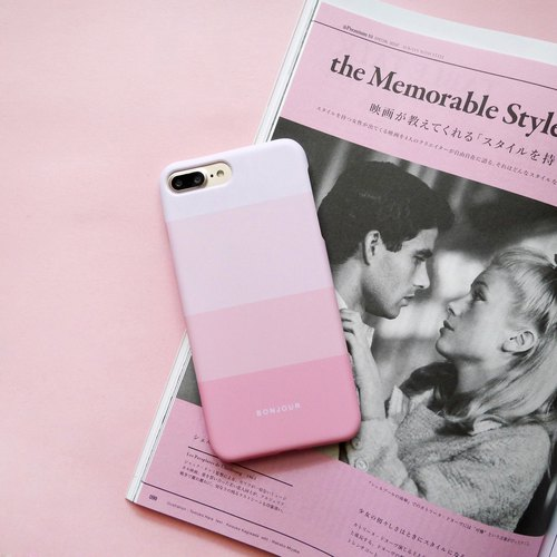 Strawberry pink gradient mobile phone shell
