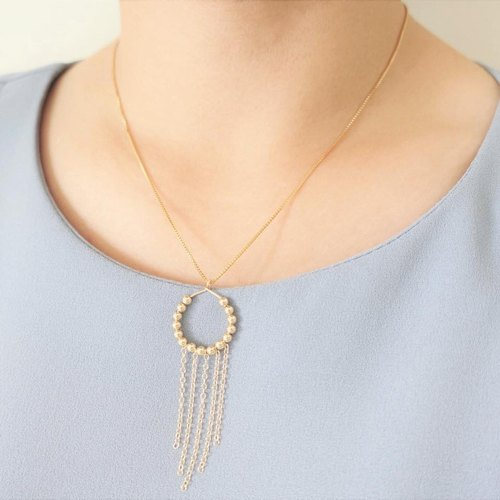 Miluku14kgf tassel necklace