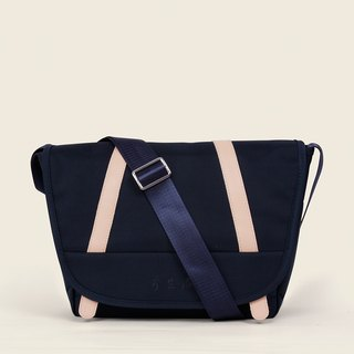 Blue simple parade backpack - business type pie - share purely