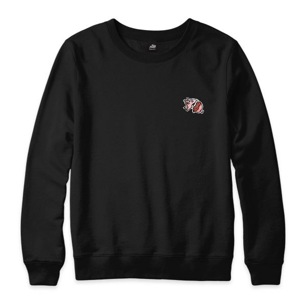 nice to MEAT you - Pig - black - neutral version University T