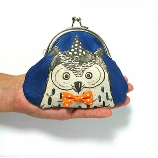 Of fashionable owl purse canvas wallet
