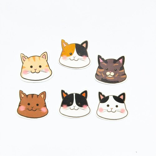 Various cat stickers package