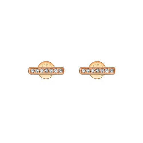 Line Shape Diamond Earring