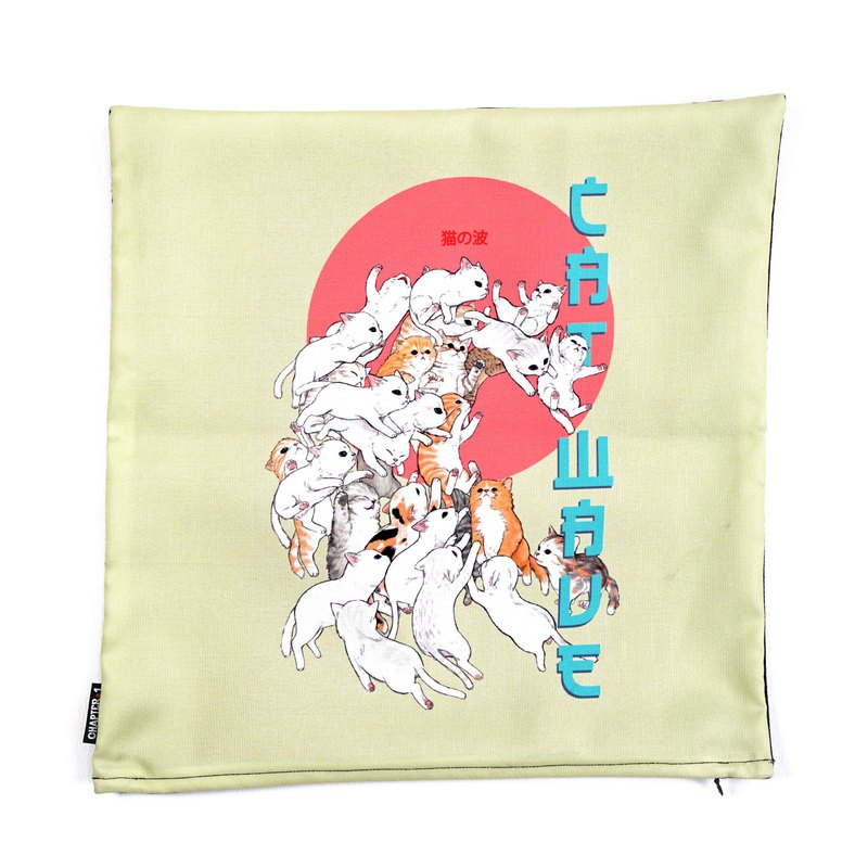 Cat wave pillow case New arrival Gift New Year