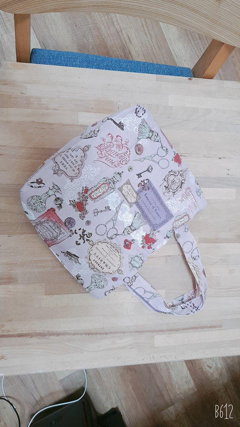 情人節禮物--暖暖手提袋-英式插圖Pink系列