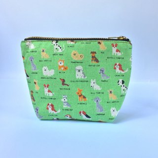 小钱包 Cute Coin Purse, Small Zipper Pouch, Tiny Puppy Dog Breeds Prints