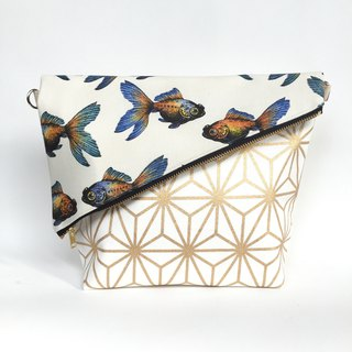 Limited Gold Edition Waterproof Goldfish Madness Sling Clutch