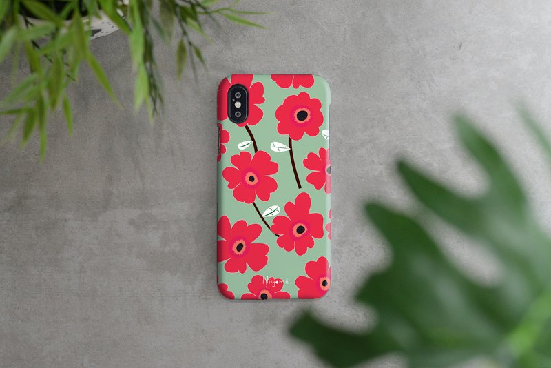 iphone case Red flower pattern for iphone5s,6s,6s plus, 7,7+, 8, 8+,iphone x