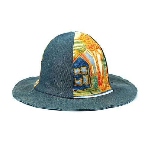 Maverick Village Calf Village original small volcanic cap men and women gentleman hat double-sided handmade cap personality retro Japanese stitching {field ancient house} [H-376]