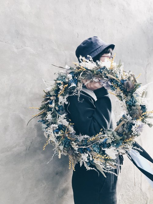 Flower Wreath!! [Poseidon - Poseidon Poseidon] Dry Wreath Wreath Space Arrangement Christmas Christmas Wreath