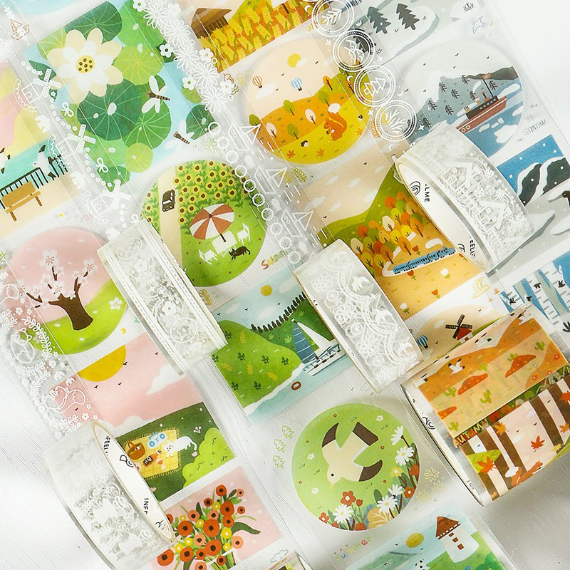 Infeel.Me warm air bright PET tape transparent bright combination tape