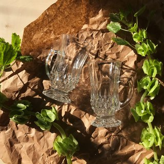 Beautiful Crystal Glass / Pair of Cups