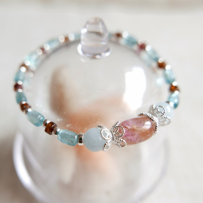 Limited. The contract of honey. Tourmaline sterling silver bracelet B