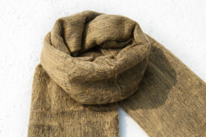 Wool shawl/knit scarf/knit shawl/covering/pure wool scarf/wool shawl-olive green
