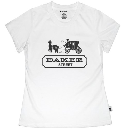 British Fashion Brand [Baker Street] Alpaca Carriage Printed T-shirt