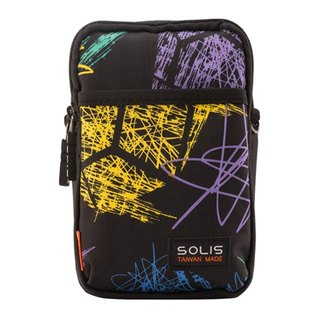 "SOLIS Celebration Series 5.5"" mobile phone multi-purpose bag(Graffiti Black)"