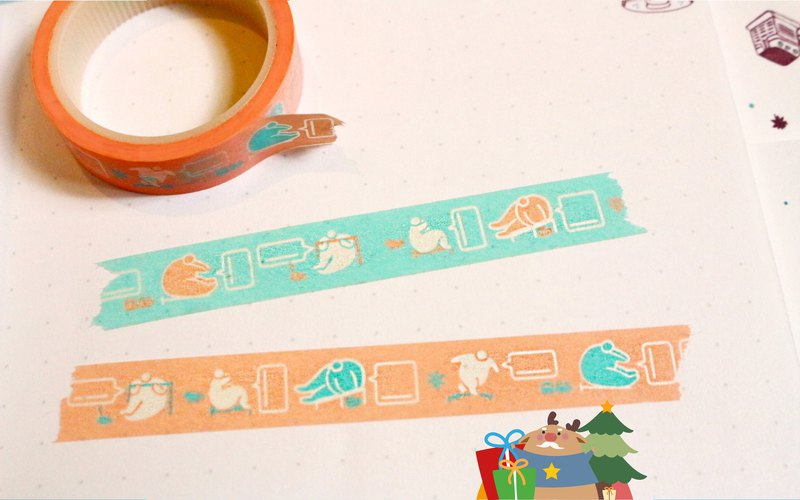 【Fatty's Talking Bubble / Mini Story Washi Tape -2 per pack】