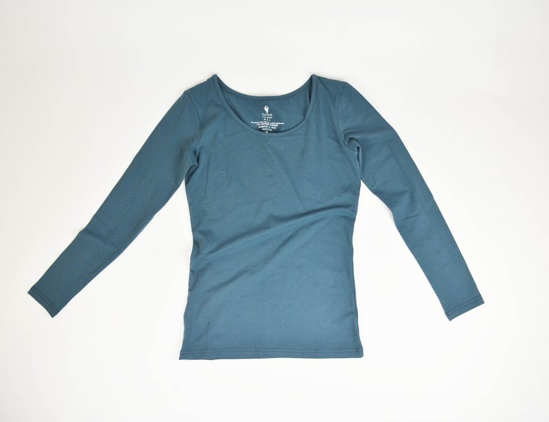 Organic cotton long-sleeved shirt - fair trade