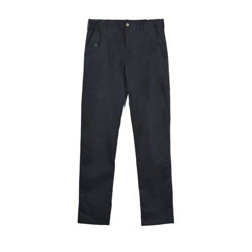 oqLiq - Display in the lost - Four Types of Asymmetric Pocket Trousers (Black)