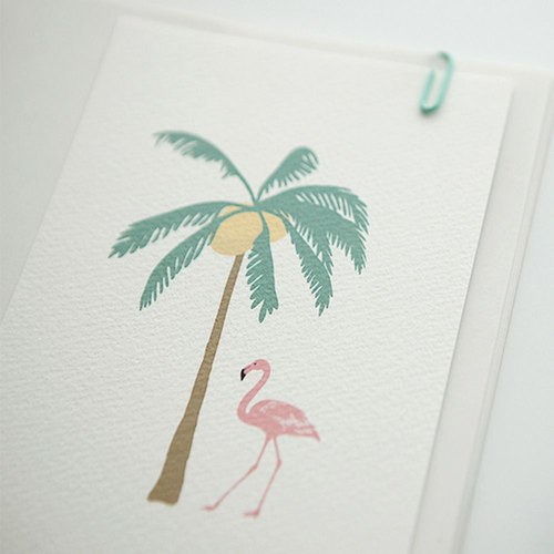 Dailylike Random Le Live Illustration Card-02 Tropic Flamingo, E2D04777
