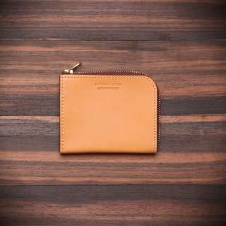 [NS leather goods] L-shaped zipper short clip, wallet, purse, wallet, coin purse (free printing)