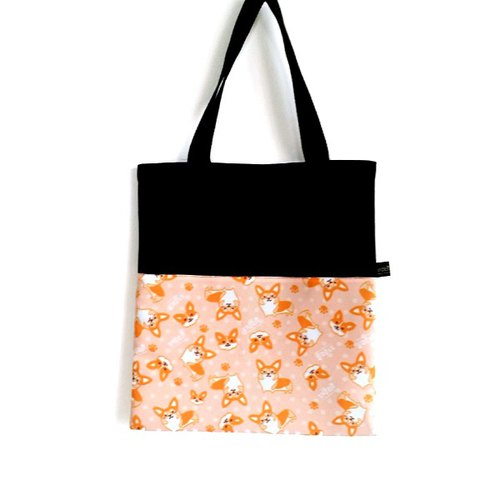 1212 play design canvas bag - cute Corgi