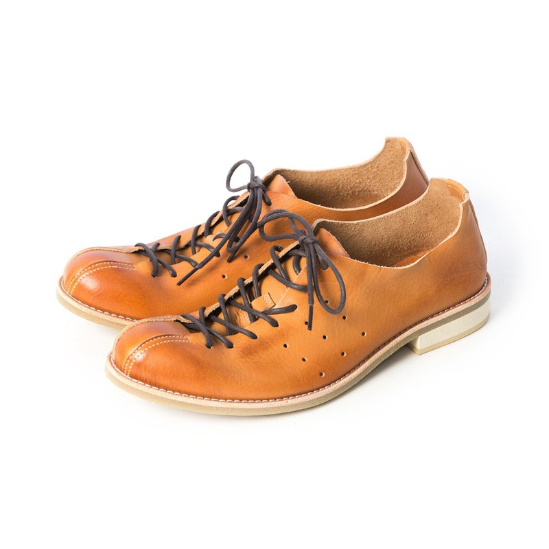 ARGIS Japan Extremely Soft Strap Casual Shoes/蟑螂鞋#51111 Caramel Color - Japanese Handmade