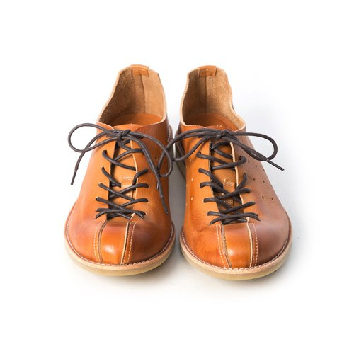 ARGIS Japan Extremely Soft Strap Casual Shoes 蟑螂鞋 51111 Caramel Color - Japanese  Handmade - Designer ARGIS Japan Handmade Leather Shoes  07ed8b03c03