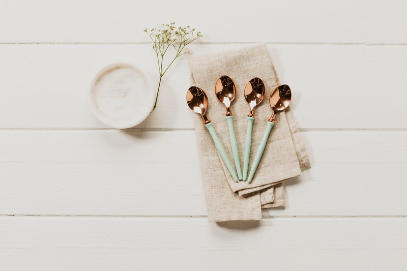 NEW Collection~10%off  - Enamel & Rose Gold Spoons
