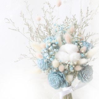 Temperament smokey blue starry bouquet bouquet
