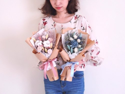 [2018 graduation bouquet] dry bouquet / pink / blue / birthday bouquet