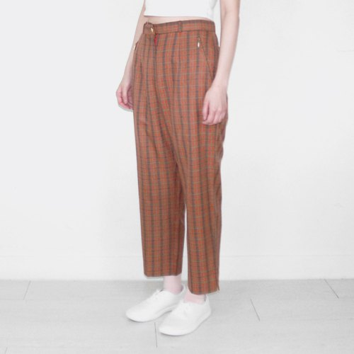 Orange Brown Vintage Waist Trousers BH1018