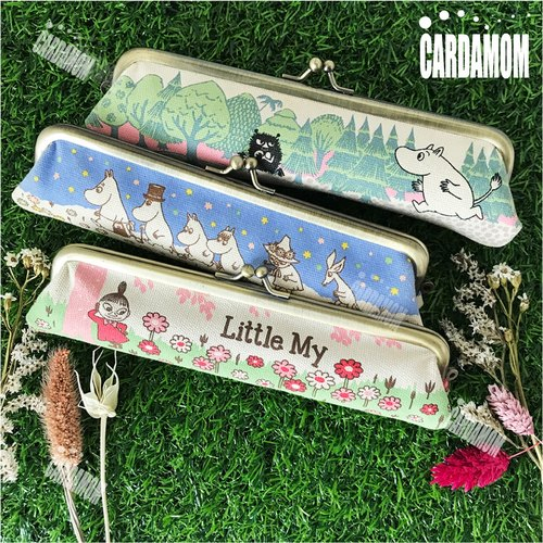 [MOOMIN] rice retro gold mini pen bag genuine licensed card international