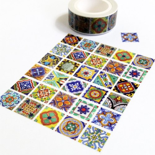 Masking Tape Mexican Tile