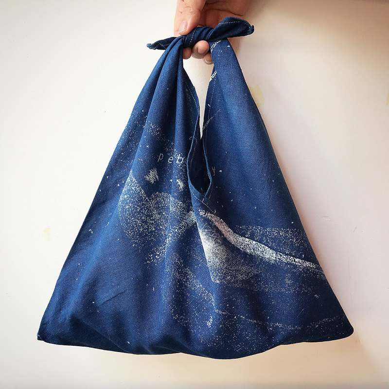 [Fasti] when the age of old trees dyed cotton green bag discharge Indigo blue dye-Cang