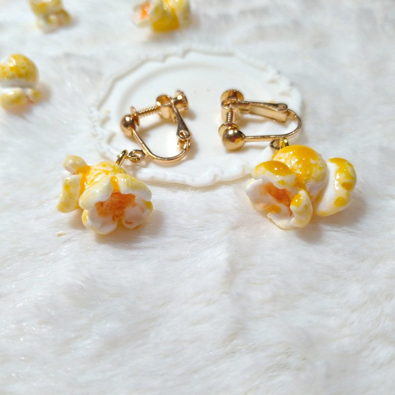 Clay Dessert Popcorn Earrings Handmade Course