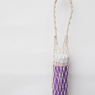 Plastic Reduction Collection  -  Linen bottle holder / Net bag /  Market bag ( S )