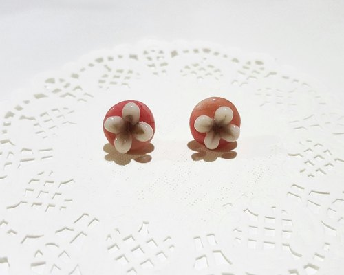 Limited four-color dyed stitching flowers [flower bloom] paste ear earrings. Anti-allergic ear needle / earrings - Spot