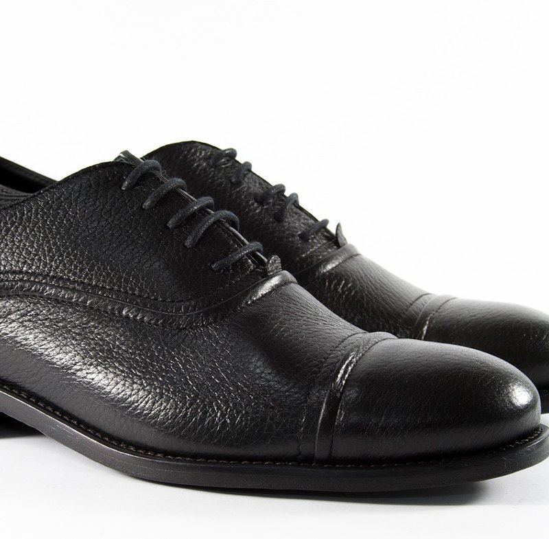 ITA BOTTEGA [Made in Italy] deerskin Oxford striated shoes