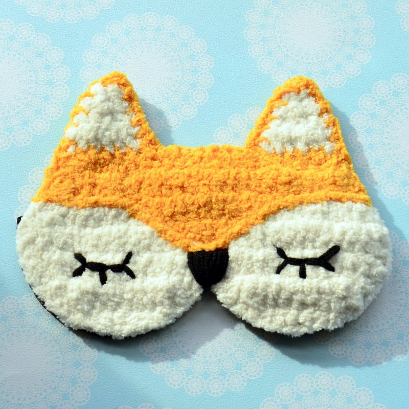 Soft animal sleep eye mask - cute fox