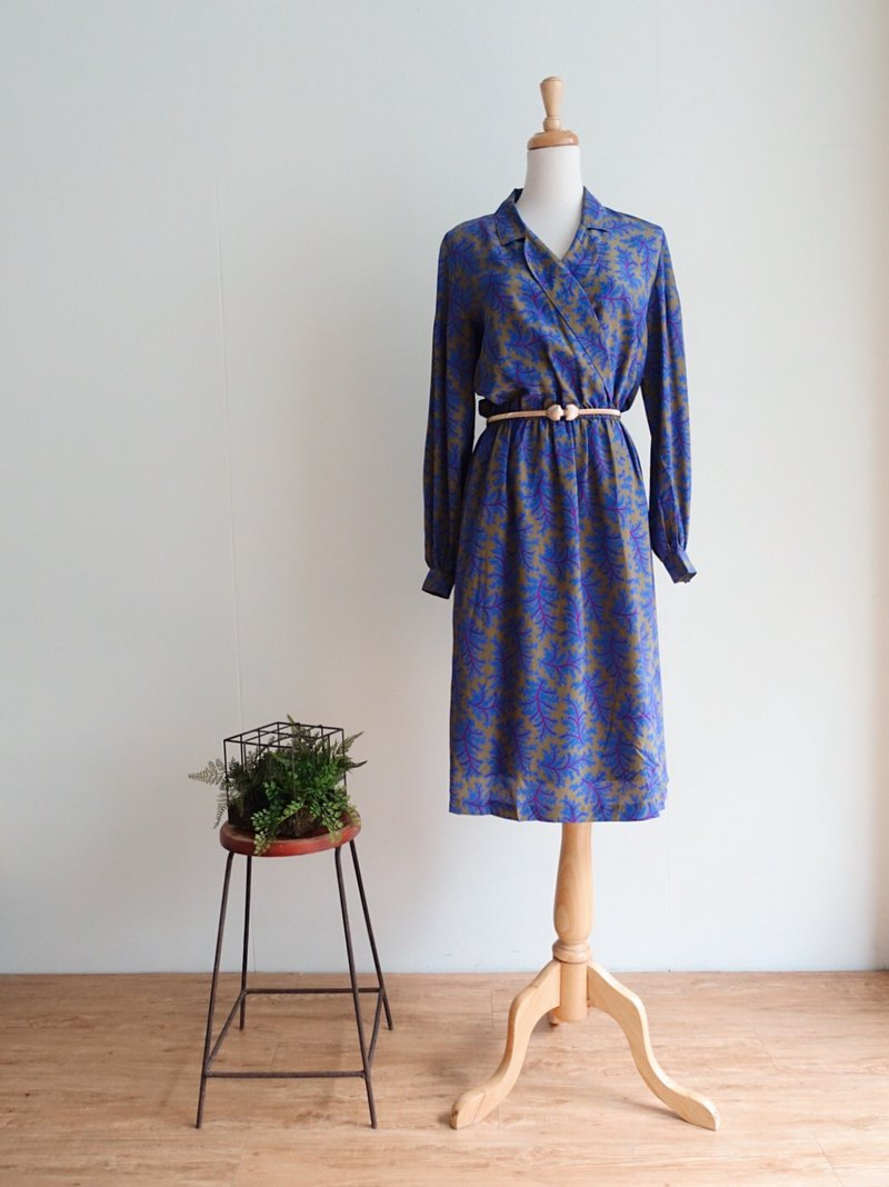 Vintage / Long Sleeve Dress no.163 tk
