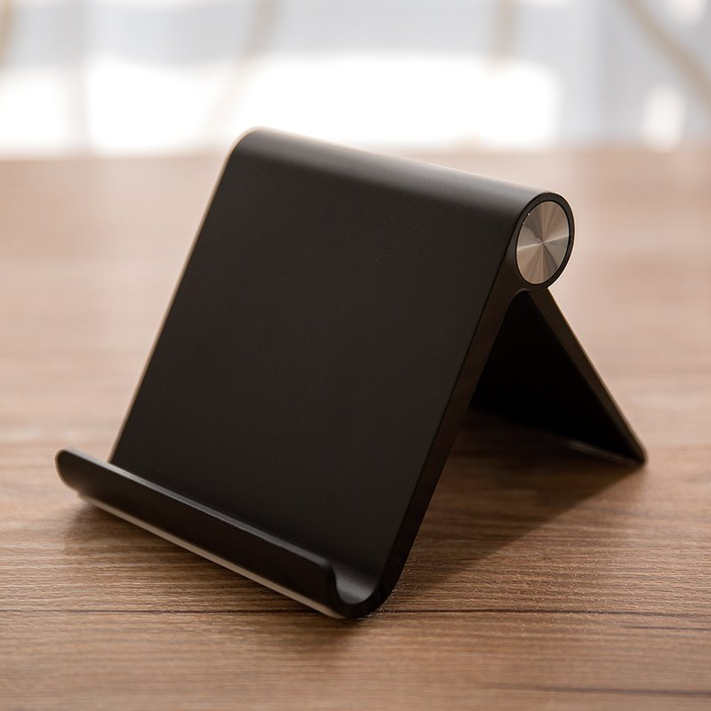 Mobile phone / tablet desktop multi-angle bracket - texture black